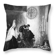 Saint Francis Borgia (1510-1572) Throw Pillow