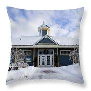 Saint John River Centre Throw Pillow