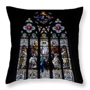 Saint Johns Stained Glass Throw Pillow