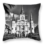 Saint Louis Cathedral Throw Pillow