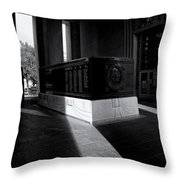 Saint Louis Soldiers Memorial Black And White Throw Pillow