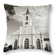 Saint Martin De Tours - Sepia Throw Pillow