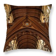 Saint Marys Church Interior 1 Throw Pillow