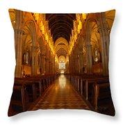 Saint Marys Church Interior 3 Throw Pillow