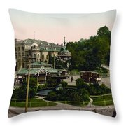 Saint Michael Monastery In Kiev - Ukraine - Ca 1900 Throw Pillow