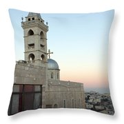 Saint Nicholas Church Beit Jala Throw Pillow