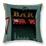 Saintly Bar Throw Pillow