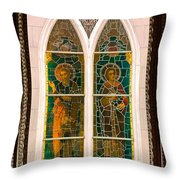 Saints In The Window Throw Pillow