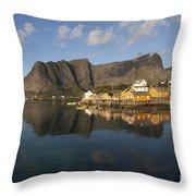 Sakrisoy Fishermen's Village II Throw Pillow