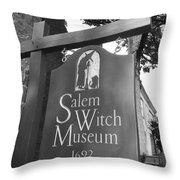 Salem Witch Museum Throw Pillow
