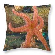 Sally Starfish Throw Pillow