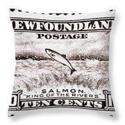 Salmon King Of The Rivers Throw Pillow