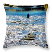 Salmon Wader Throw Pillow