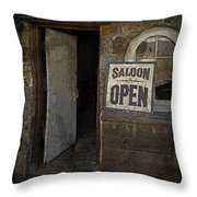 Saloon Open Throw Pillow