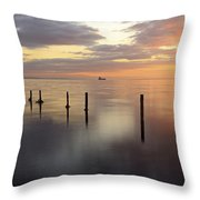 Saltcoats Seascape Throw Pillow