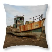 Salty Remains Throw Pillow