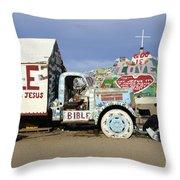 Salvation Mountain California 1 Throw Pillow
