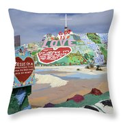 Salvation Mountain California 2 Throw Pillow