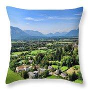Salzburg IIi Austria Europe Throw Pillow by Sabine Jacobs