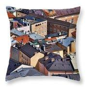 Salzburg's Roofs Austria Europe Throw Pillow