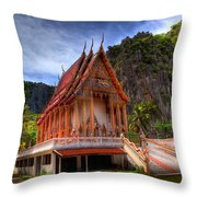Sam Roi Yot Temple Throw Pillow