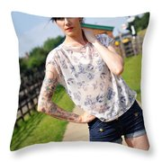 Sam12 Throw Pillow