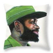 Samora Moises Machel Throw Pillow
