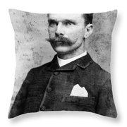 Samuel Bass (1851-1878) Throw Pillow