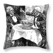 Samuel Clemens Cartoon Throw Pillow