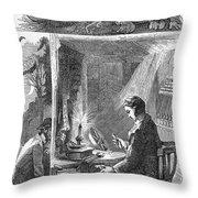 Samuel Crompton (1753-1827) Throw Pillow