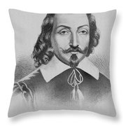 Samuel De Champlain Throw Pillow by Photo Researchers
