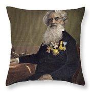 Samuel F.b. Morse (1791-1872) Throw Pillow