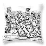 Samuel L. Clemens Cartoon Throw Pillow