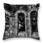 San Antonio Missions Throw Pillow by Kelly Rader
