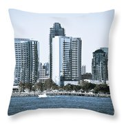 San Diego Downtown Waterfront Buildings Throw Pillow