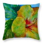San Diego Hibiscus Study I Underwater Throw Pillow