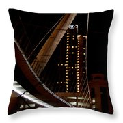 San Diego Lights At Night Throw Pillow