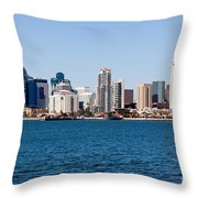 San Diego Skyline Buildings Throw Pillow
