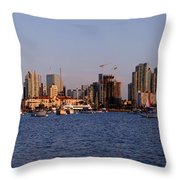 San Diego Skyline Pano Throw Pillow