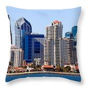 San Diego Skyline Photo Throw Pillow by Paul Velgos