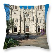 San Fernando Cathedral Throw Pillow