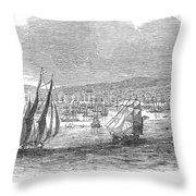 San Francisco Bay, 1849 Throw Pillow