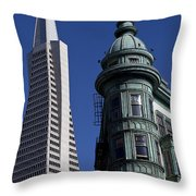 San Francisco Buildings Throw Pillow
