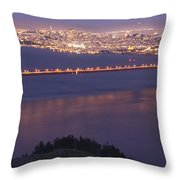 San Francisco Dusk Throw Pillow