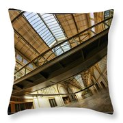 San Francisco Ferry Building Walkway Throw Pillow
