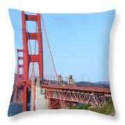 San Francisco Golden Gate Bridge . 7d8157 Throw Pillow