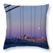San Francisco Moon Throw Pillow