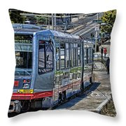 San Francisco Muni Throw Pillow