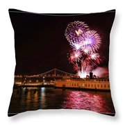 San Francisco New Years Eve Throw Pillow