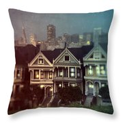 San Francisco Night Throw Pillow